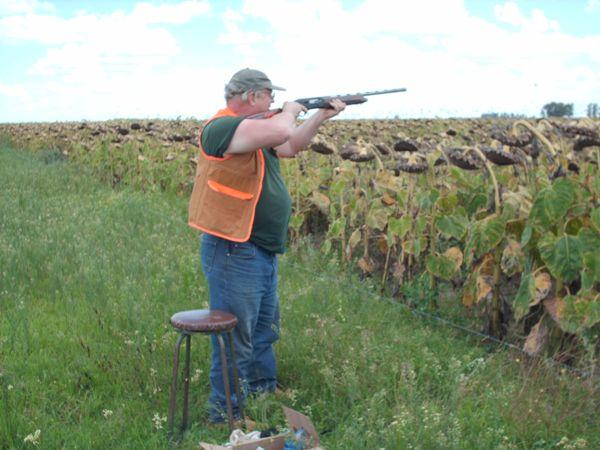 Taking aim... Billy