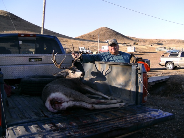 Dave with his mule deer